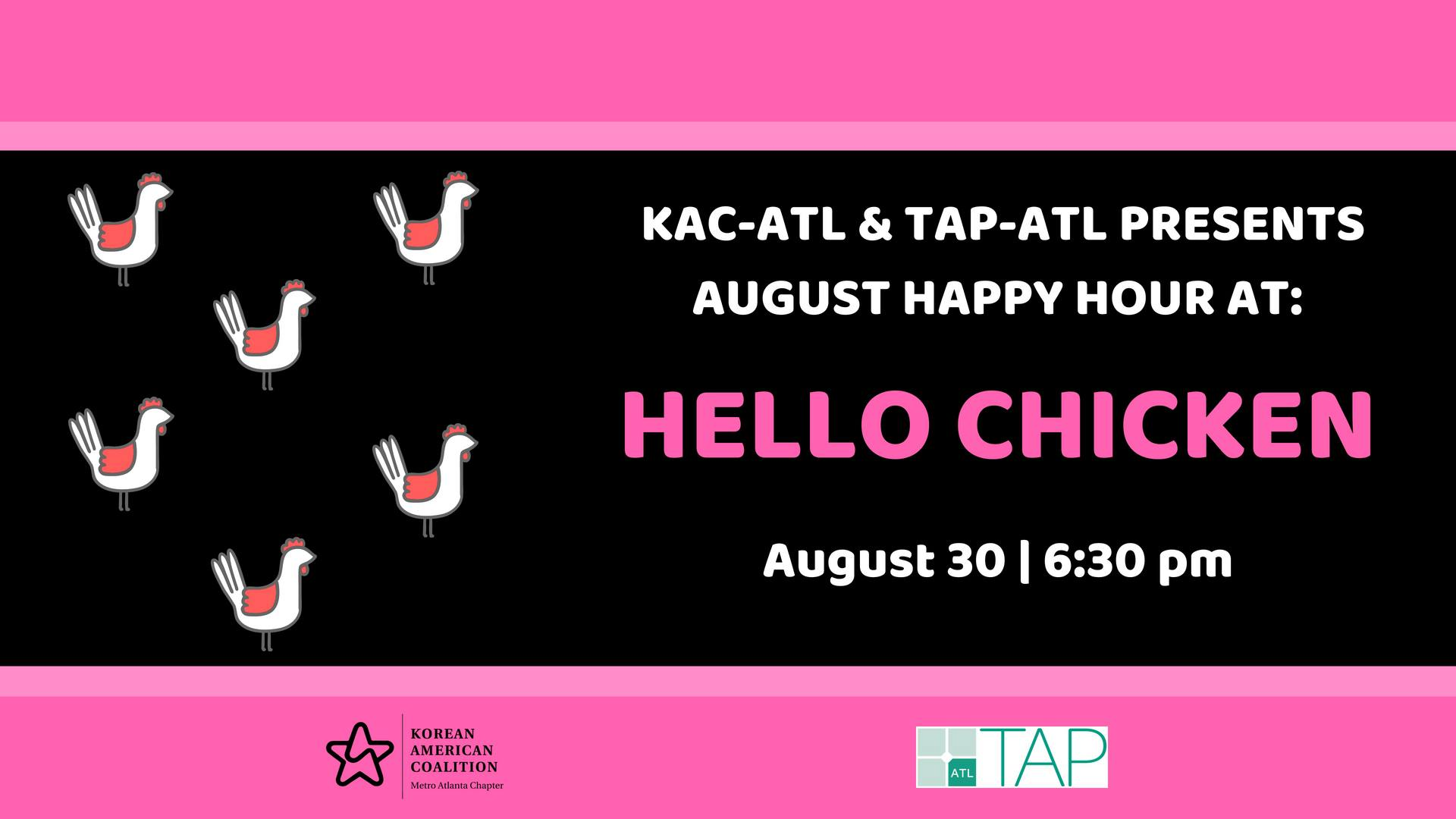 August Happy Hour with TAP!